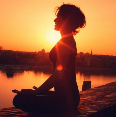 Meditating Sunset