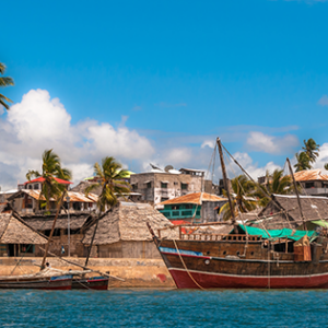 Picture of the town, Lamu Kenya – a UNESCO World Heritage Site – incorporates several historic buildings