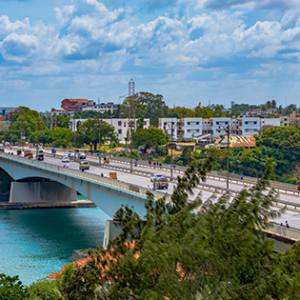Picture of the City of Mombasa on the Kenya coastline