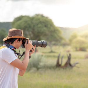 Fair Trade Safaris shooting at eye level or below
