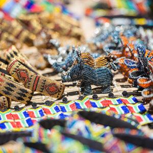 Buy local handicrafts at the bustling Maasai Market