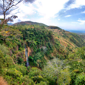 Livingstonia Lake Malawi old stone mission offers fine views over the Rift Valley escarpment